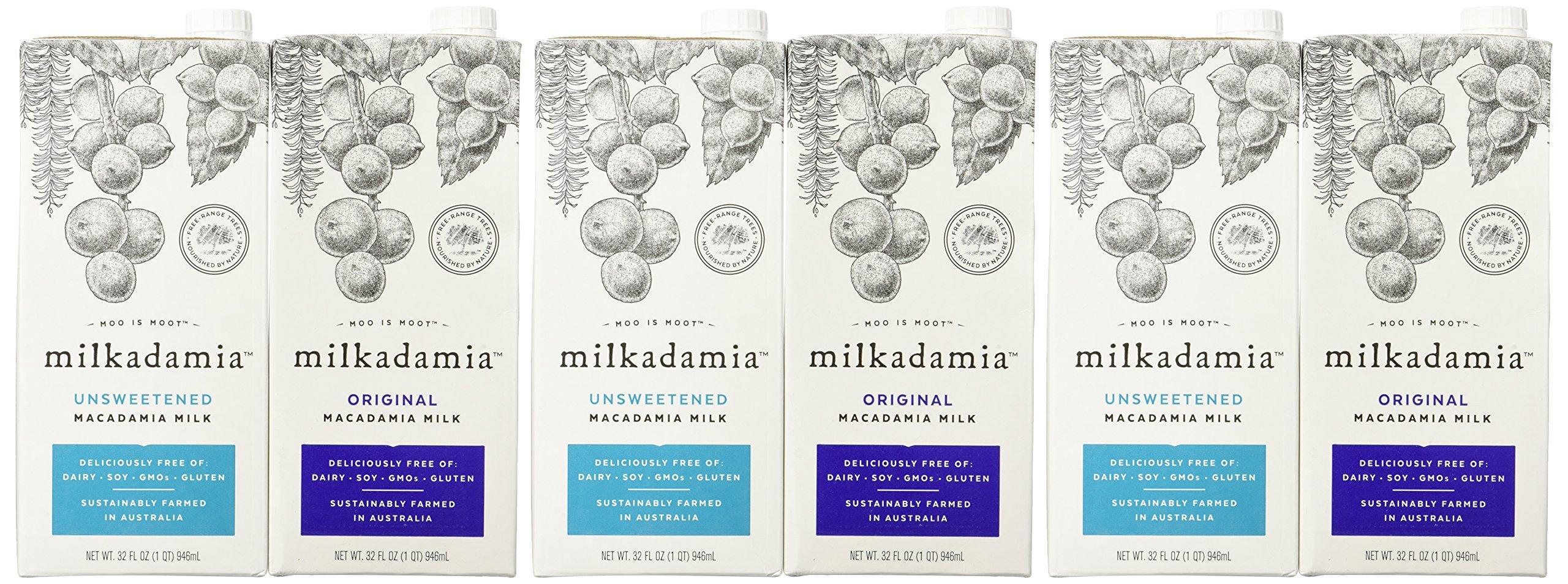 Milkadamia Variety Pack, Macadamia Milk, 32 Ounce  (Pack of 6) by Milkadamia (Image #1)