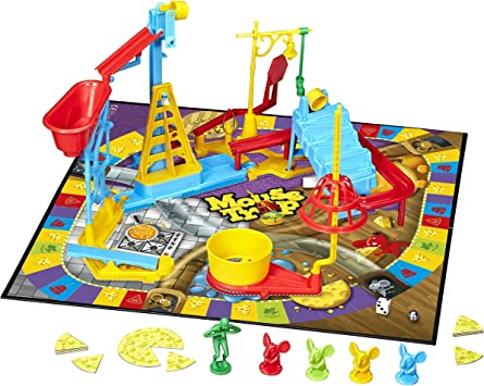 Classic Mousetrap Board Game Kids Fun Play Activity Chain Reaction Cheese Dice