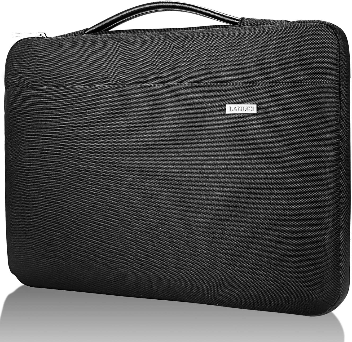 """Landici Laptop Case Sleeve 11.6-12 Inch with Handle,360°Protective Computer Bag Compatible with MacBook Air 11/Surface Pro 7 6/Chromebook/Ipad Pro 12.9,Waterproof 12.5"""" Acer Hp Tablet Cover-Black"""
