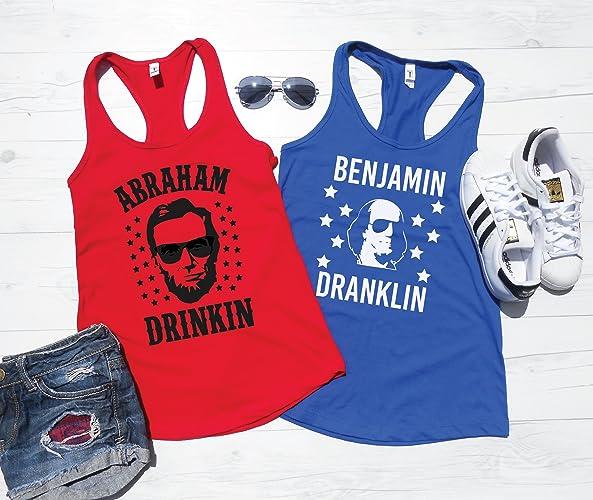 df4bcf39ac711 Amazon.com  Abraham Drinkin Benjamin Dranklin Tank Tops