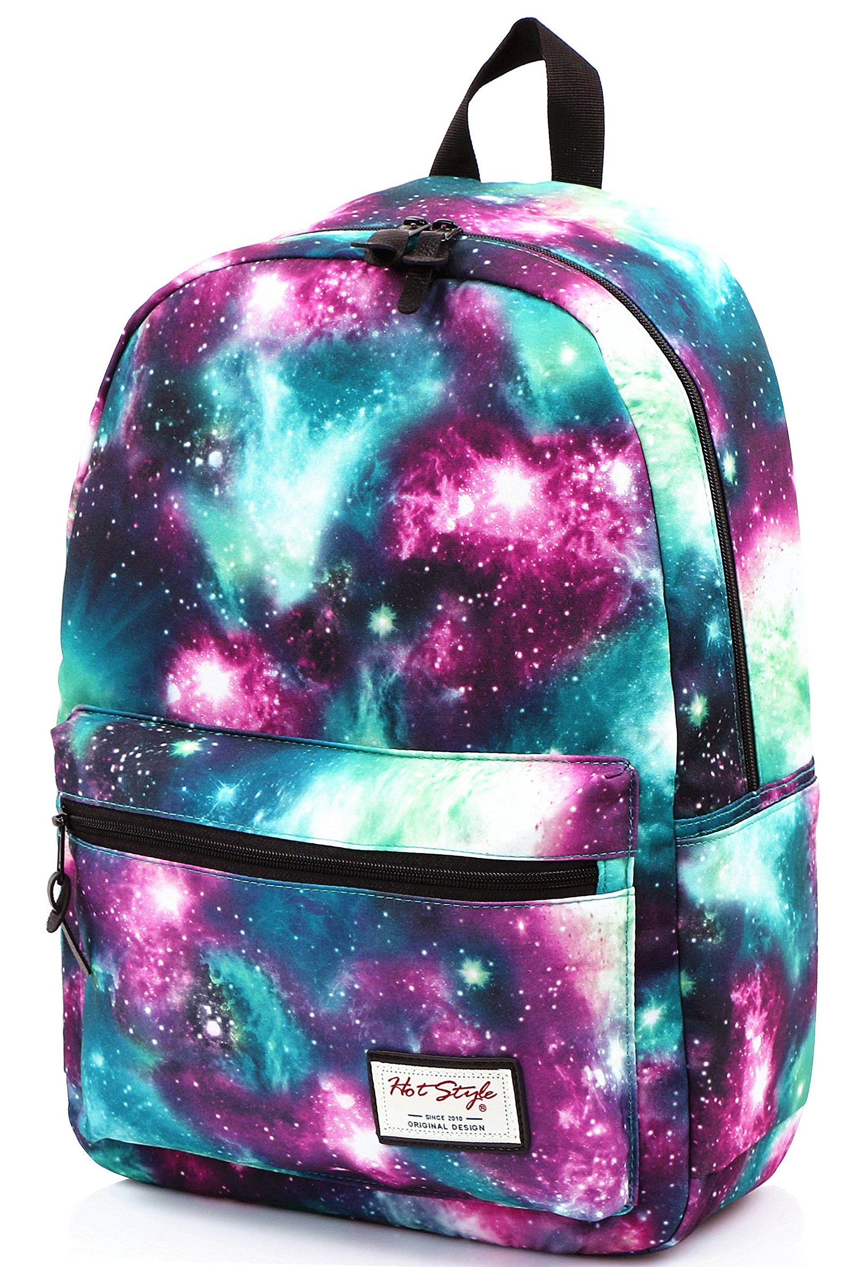 TRENDYMAX Galaxy Backpack Cute for School | 16''x12''x6'' | Holds 15-inch Laptop | Green