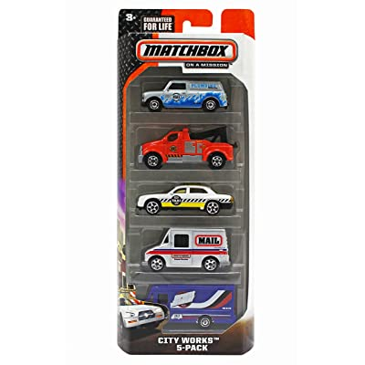 Matchbox On A Mission - City Works 5 Pack, Colors and Styles may vary: Toys & Games
