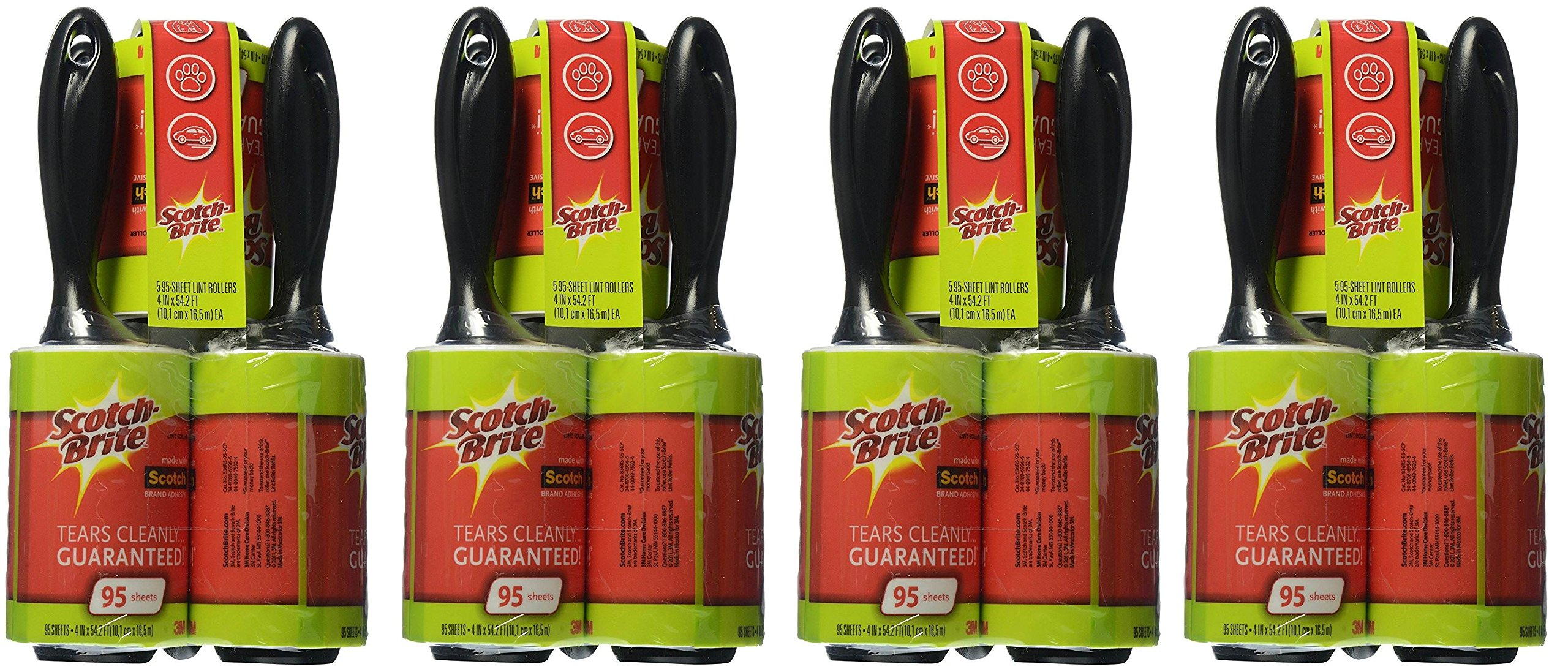 Scotch-Brite Lint Roller Combo Pack, 20-Rollers