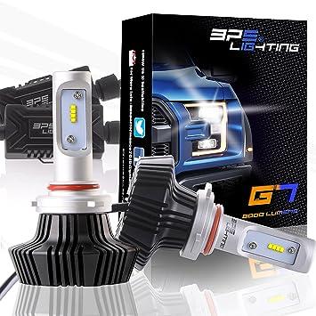 BPS Lighting G7 LED Headlight Bulbs Conversion Kit - 9005 HB3 50W Philips Lumileds 8000LM 6000K