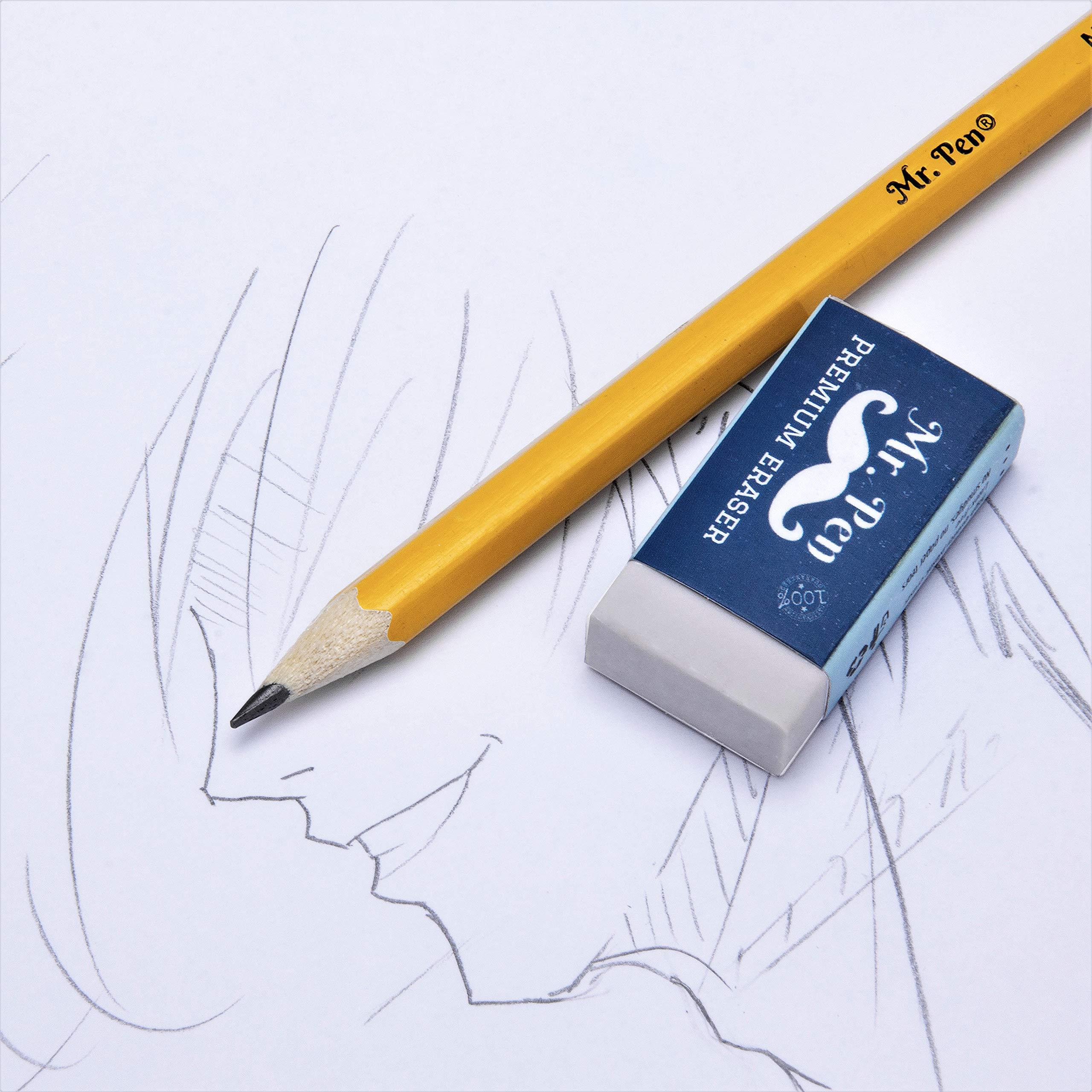 Mr. Pen- Erasers, Pack of 24, Premium Eraser, Pencil Erasers, White Eraser, School Supplies, Eraser Pencil for Artists and Students, Erasers for Kids, Art Eraser, Erasers Bulk, Eraser for School by Mr. Pen (Image #4)