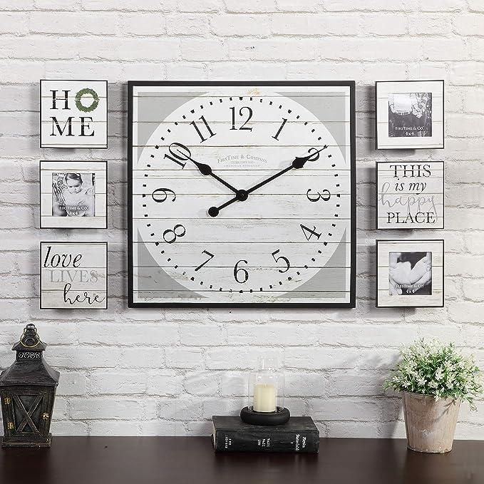 Lamowda Photo Wall Large Clocks Portfolio Picture Frames Wall Games Decorative Frame Cartoon Photo Wall 7 Inch Color : HU Black and White Blue