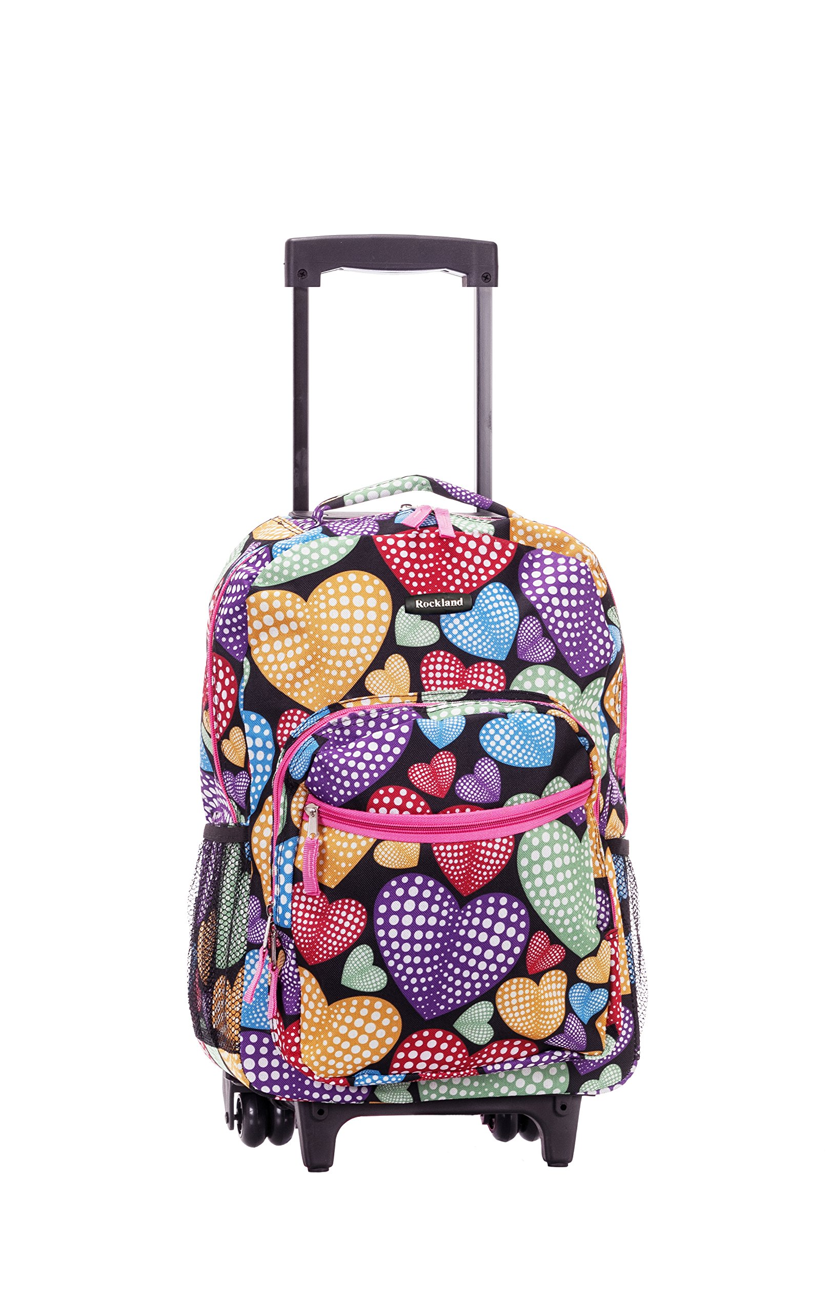Rockland 17 Inch Rolling Backpack, Newheart, One Size