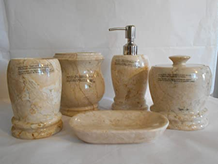 LUXURY HOME CREATIONS GENUINE MARBLE BATHROOM ACCESSORIES SETS BEAUTIFUL  ORGANIC NATURAL STONE BRAND NEW (5