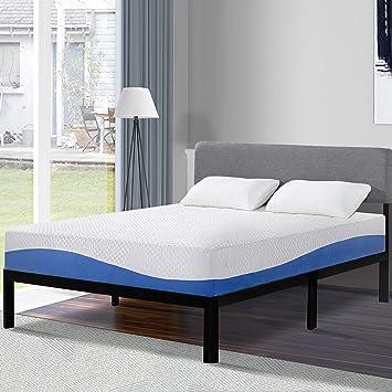 buy online d57d9 704d9 Olee Sleep 10 Inch Gel Infused Layer Top Memory Foam Mattress Blue, Twin