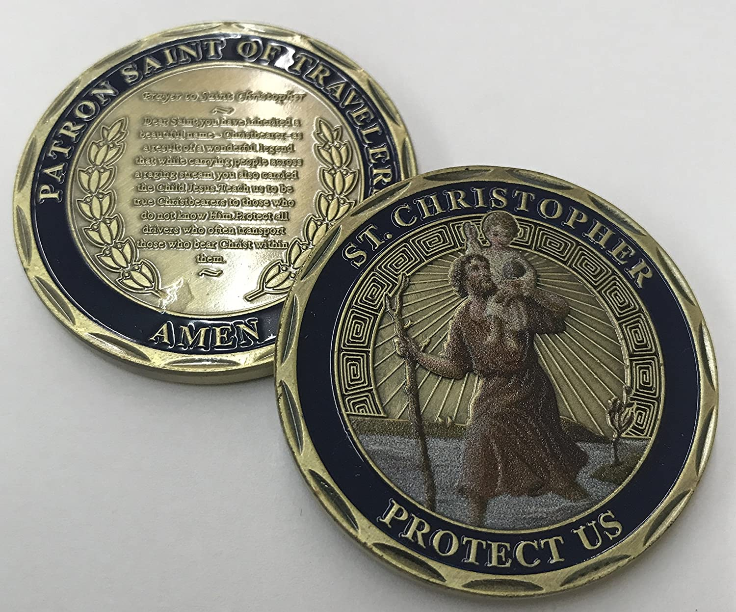 Wendells Guardian Angel Bronze Medallion Chip He Will Command His Angels To Guard You In All Your Ways