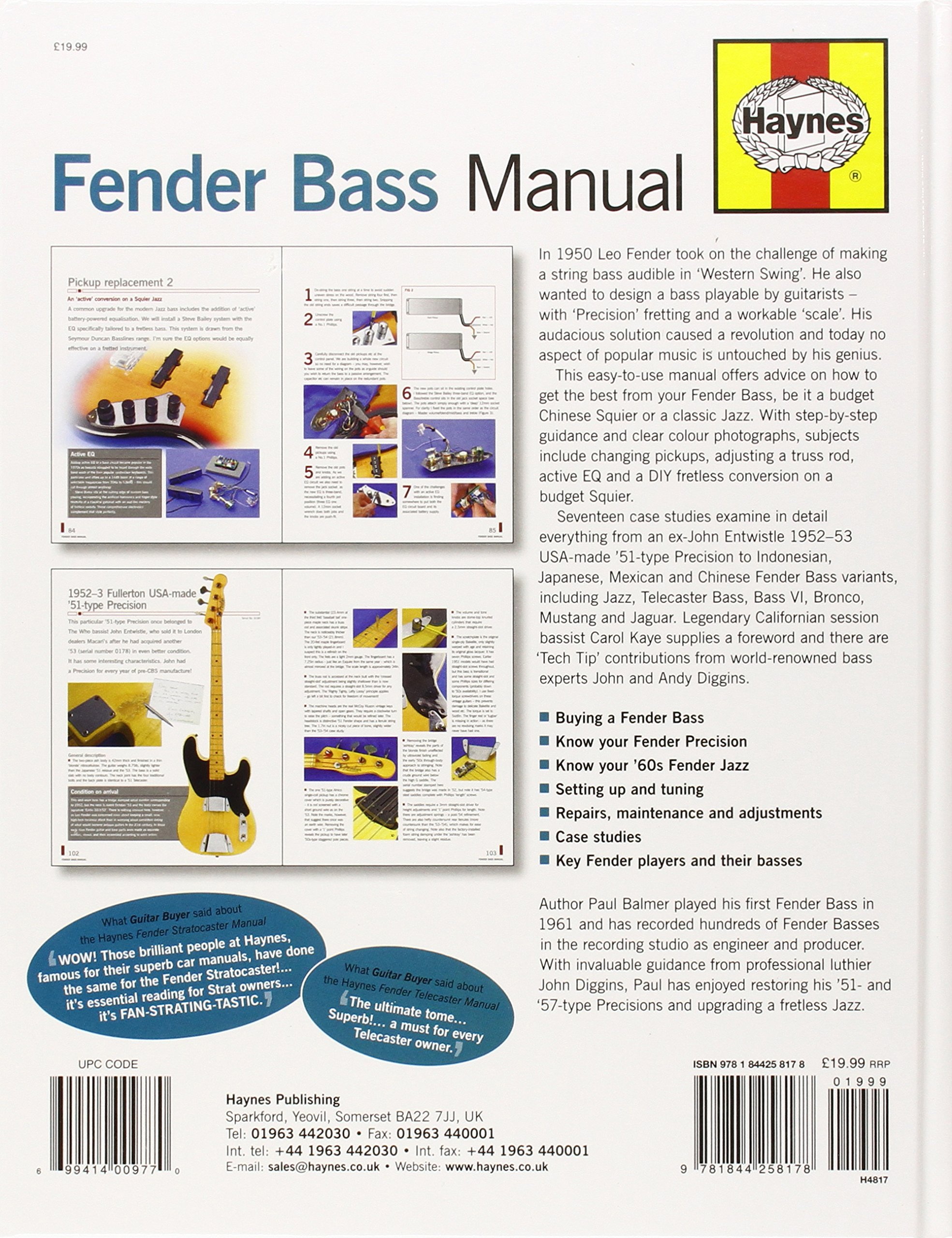 Fender Bass Manual: How to buy, set up and maintain the Fender Bass ...