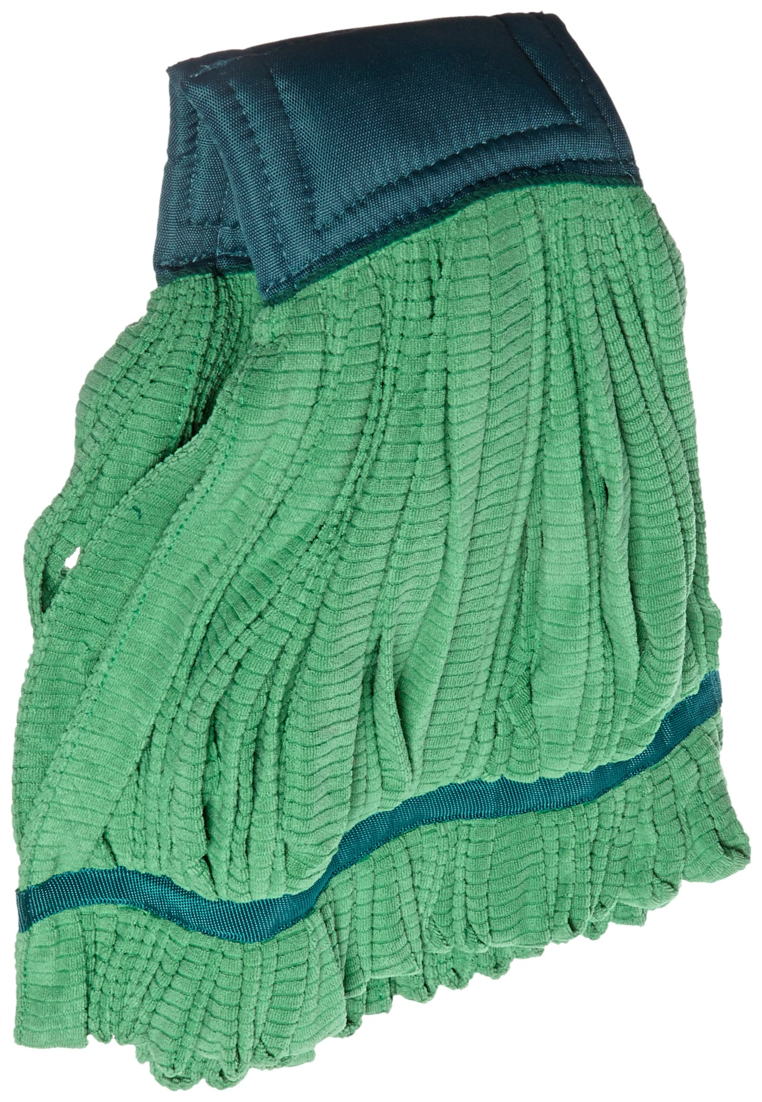 Impact LF0022 Microfiber Tube Wet Mop with Canvas Headband, X-Large, Green (Case of 12)