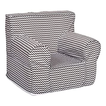 Brilliant Trend Lab Bedtime Gray Chevron Petite Accent Chair Theyellowbook Wood Chair Design Ideas Theyellowbookinfo