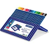 Amazon Staedtler Ergosoft Colored Pencils Set Of 24 Colors In Stand Up Easel Case