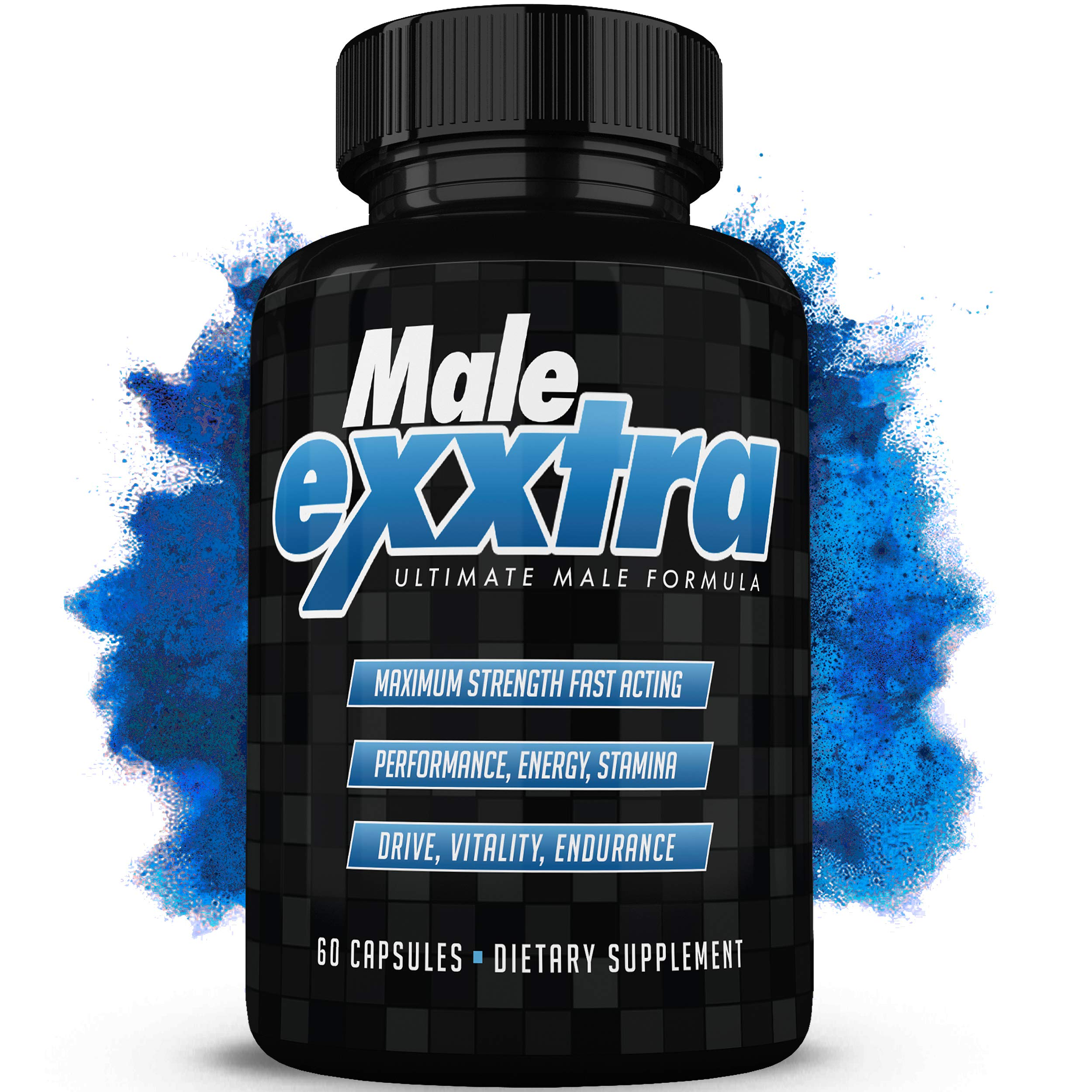 Male Exxtra Ultimate Enhancing Pills - Enlargement Formula Promotes Size, Strength, Energy. All Natural Performance Supplement - 1 Month Supply - Made in USA by Osyris Nutrition Lab