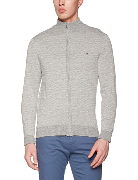 Tommy Hilfiger Cotton Silk Zip Through, Sudadera para Hombre: Amazon.es: Ropa y accesorios