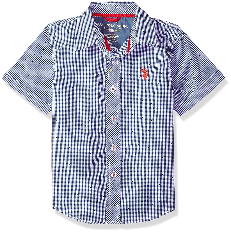 U.S. Polo Assn. Big Boys' Short Sleeve Plaid Sport Shirt US Polo Association Boys 8-20 RG81