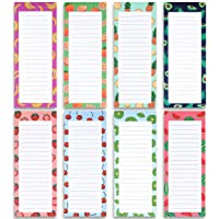 8 Magnetic Notepads - Large Notepads for Grocery List, Shopping List, To-Do List...