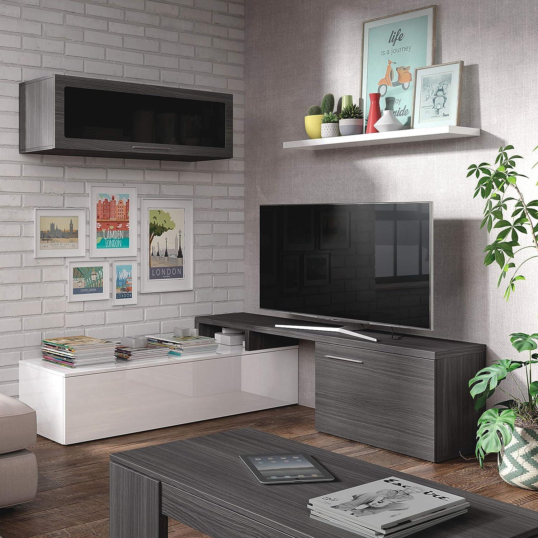 Habitdesign 016667G - Mueble de salón comedor moderno ...