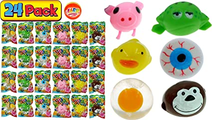 Stretchy Frogs Pack of 24 Assorted Colours