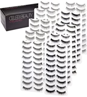2a15db61ae5 Celeb Beauty Eyelash Splashes 100 Pair Faux Lashes Variety Pack – Reusable  Fake Eyelashes in 10