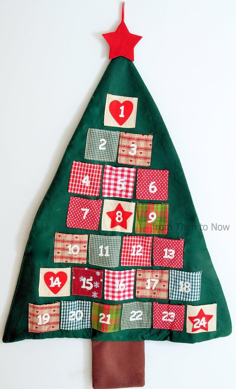 Gisela Graham : tela de la Navidad árbol de calendario de adviento 30914