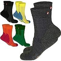 Calcetines Ligeros de Senderismo de Lana Merino, para hombre y mujer, 3 o 1 pares, antiampollas, cortos, calcetines de trekking, rendimiento, montaña, ideales para invierno, contra los pies fríos