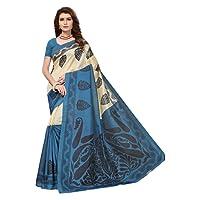 Indira Designer Art Kota Cotton Blend Saree With Blouse Piece (Free Size)
