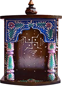 Handicraft Store Wood Temple Made with Wood with Traditional Emboss Work, Must for Every Home & Office at Worship Place, A auscipious and Religious Art