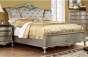 Furniture of America Sleigh, California King, Gold