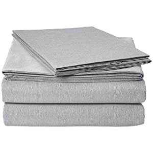 AmazonBasics Chambray Sheet Set - Cal King, Slate Grey