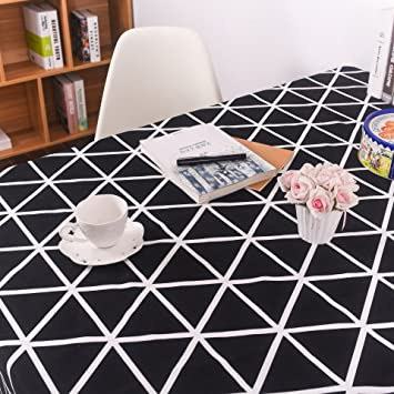 Attractive Xu0026L Black And White Geometric Tablecloth Modern Simple Hotel Tablecloth  Cotton Tablecloth Cloth Cloth Towel ,