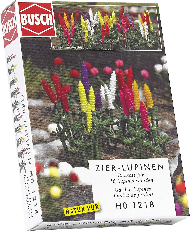 Busch 1218 Décoration-lupins h0