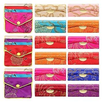 Amazon.com: 24 piezas de tela sedosa de satén para ...