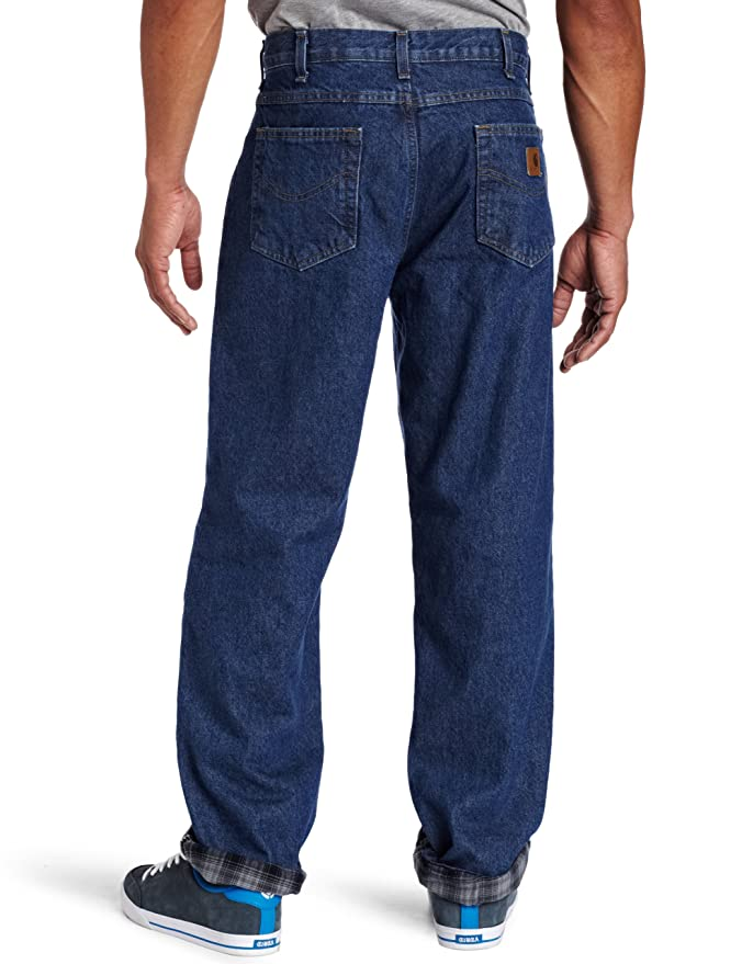 8ba6a0a6762b7 Carhartt Men s Relaxed Fit Straight Leg Flannel Lined at Amazon Men s  Clothing store  Flannel Lined Jeans
