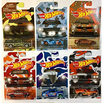 Hot Wheels Exclusive Camouflage Set of 6 Die-Cast Cars: Toys & Games