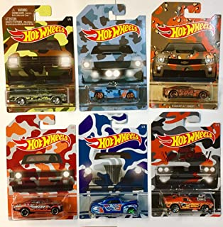 hot wheels exclusive camouflage set of 6 die cast cars - Rare Hot Wheels Cars List