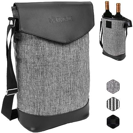 Amazon.com: OPUX Deluxe - Bolsa térmica para 2 botellas de ...