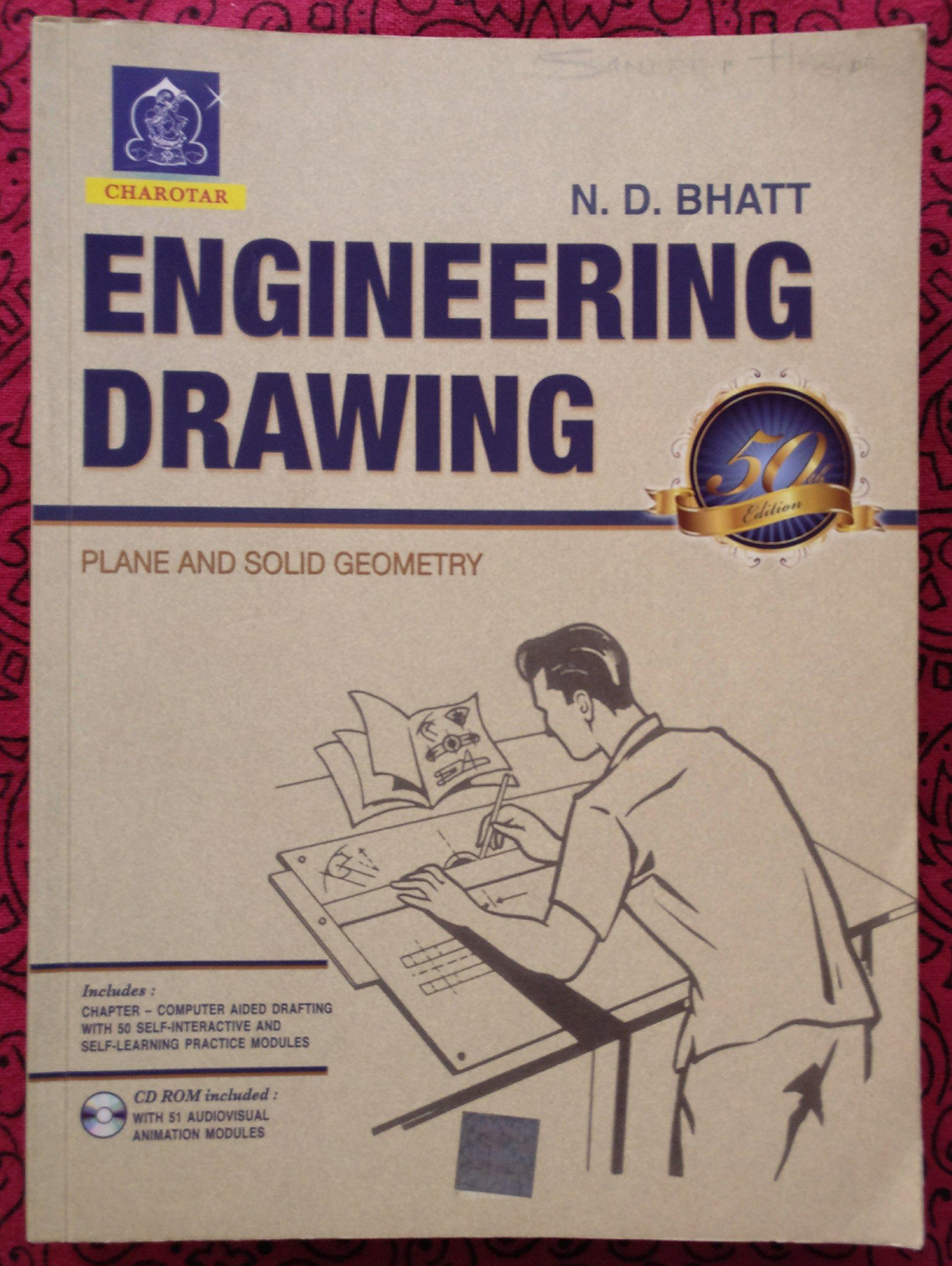 Engineering Drawing 53rd Edition 2014 Bhatt 9789380358963
