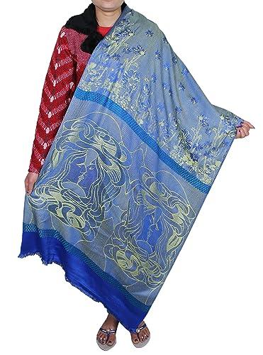Donne accessorio di moda sciarpa avvolgente - bella lunga di seta lana floreali avvolgere ragazze pe...