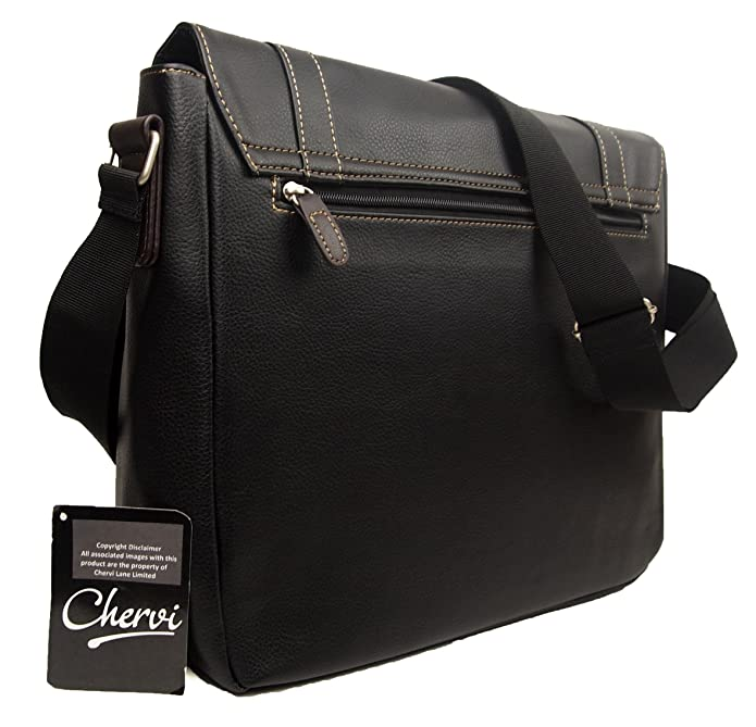3c1a017f76 High Quality Mens Womens Faux Leather Messenger Satchel Business Work  College Shoulder Bag  Amazon.co.uk  Shoes   Bags