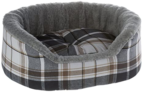 Ferplast Dandy Mini Saco de dormir para pequeños animales, pelo Grau/Schotten