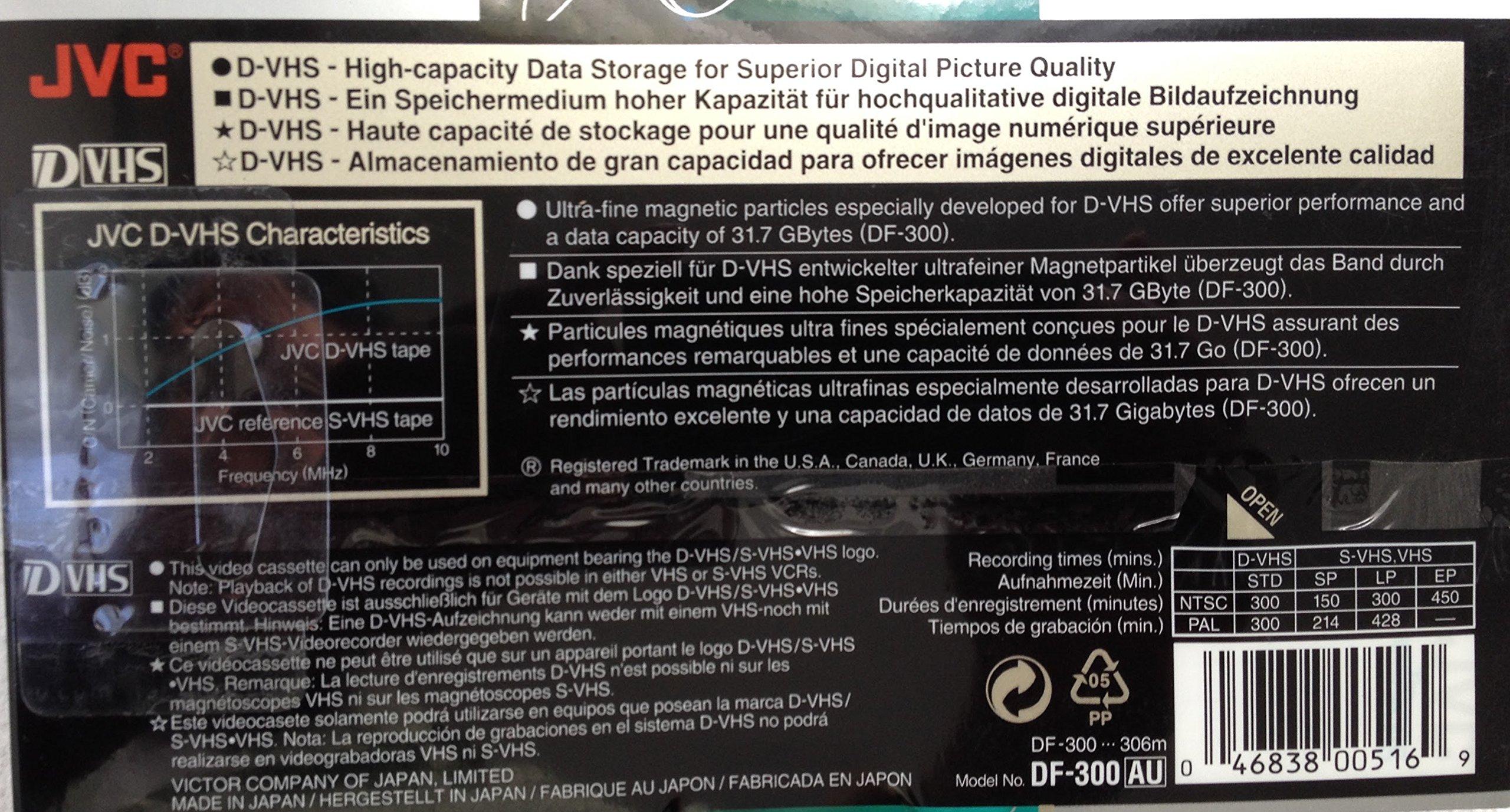 JVC DF300AU D-VHS Video Tape (300 min.) by JVC