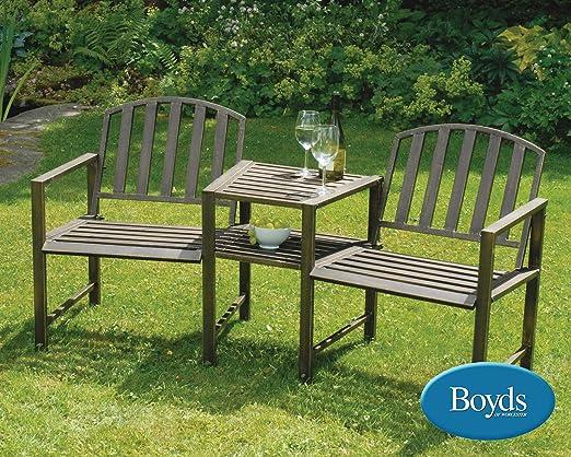 Greenhurst - Kit de sillas y mesa metálicas para jardín, diseño ...