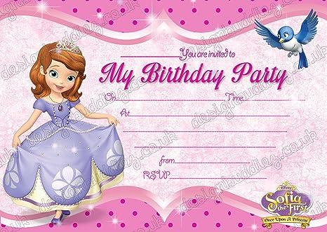 10 x princesa Sofía la Primera fiesta de cumpleaños ...