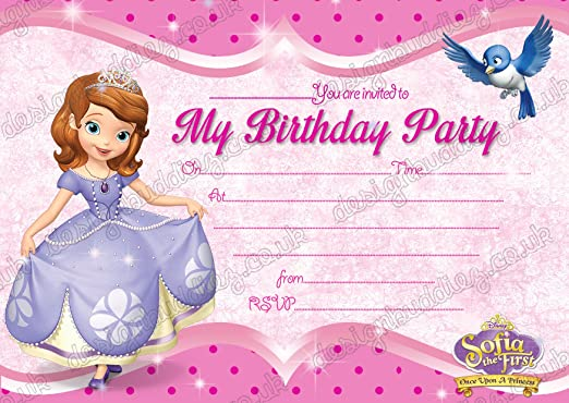 10 x las niñas fiesta de cumpleaños invitaciones tarjetas de ...