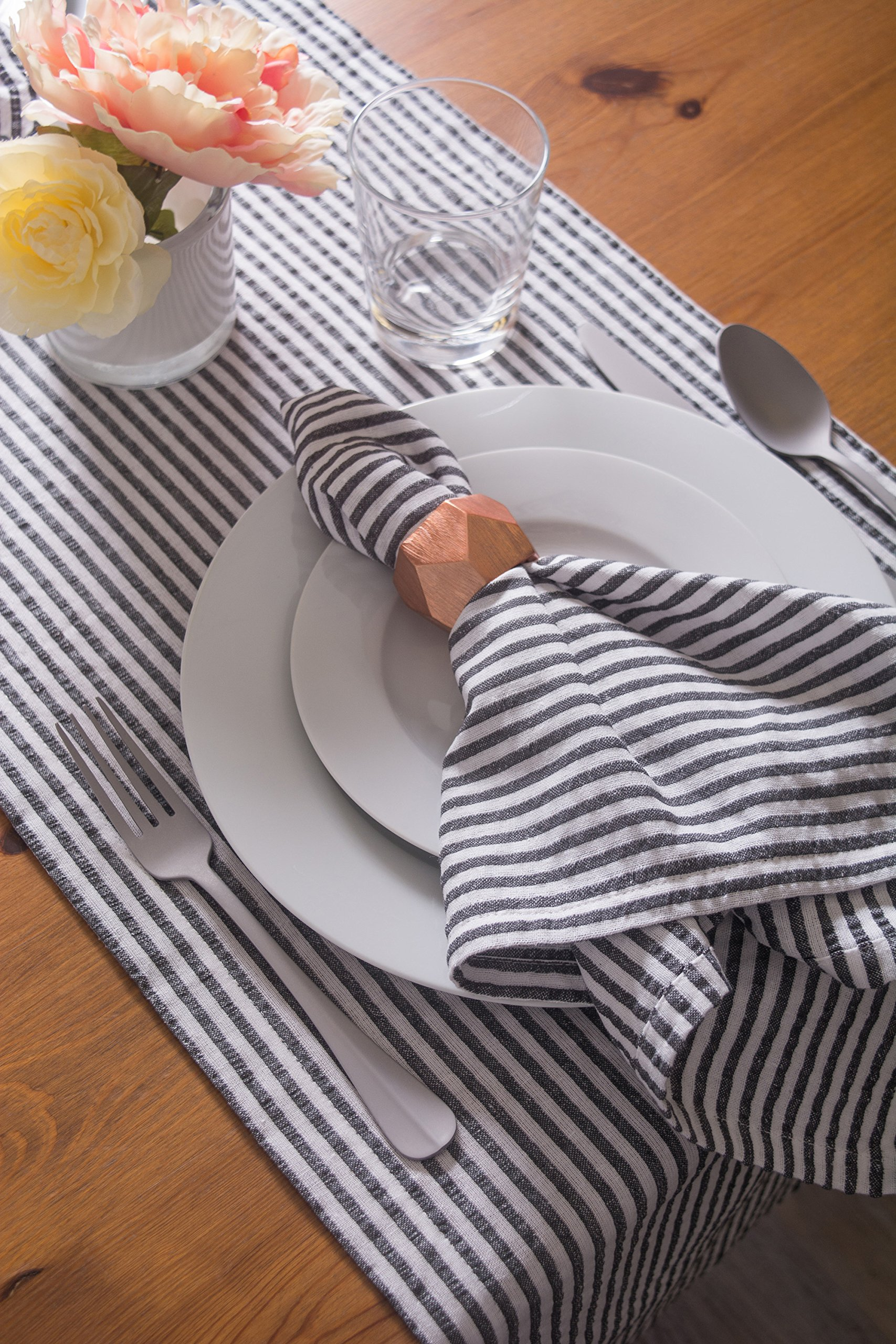 DII Cotton Seersucker Striped Napkin for Brunch, Weddings, Showers, Parties and Everyday Use, 20 x 20'', Mineral Gray and White by DII (Image #6)