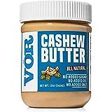 Vör All Natural Cashew Butter (12oz) | Only One Ingredient | No Sugar, No Salt | Vegan, Paleo, Keto, Whole 30 (12oz Jar)