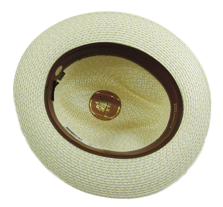 e7e72bd049f0e Stetson Winston Straw Hat Fedora Tan Size 7 3 8