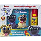 Disney Junior Puppy Dog Pals - Fun on the Farm Pop-up Book and 5 Sound Flashlight - PI Kids